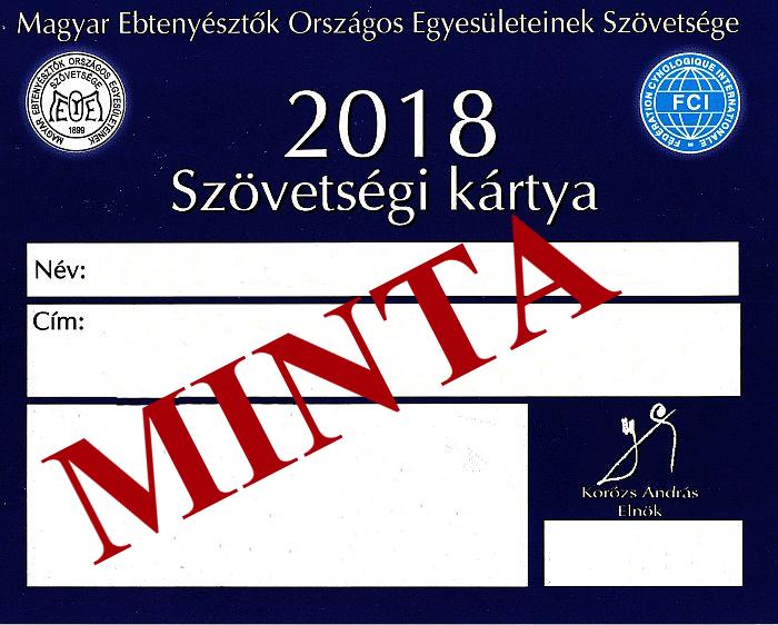 Szövetségi kártya 2018