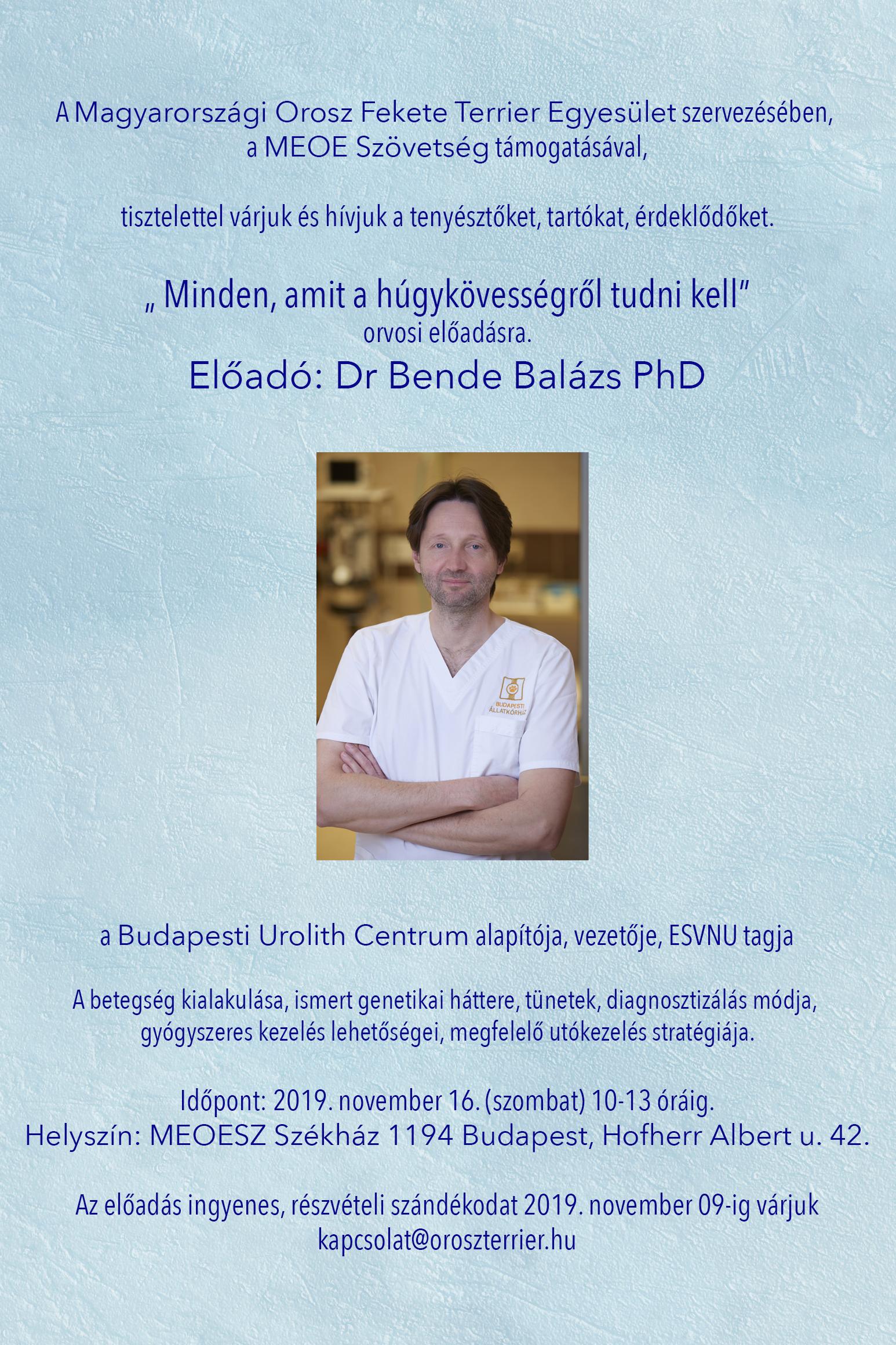 Dr. Bende Balázs PhD előadása
