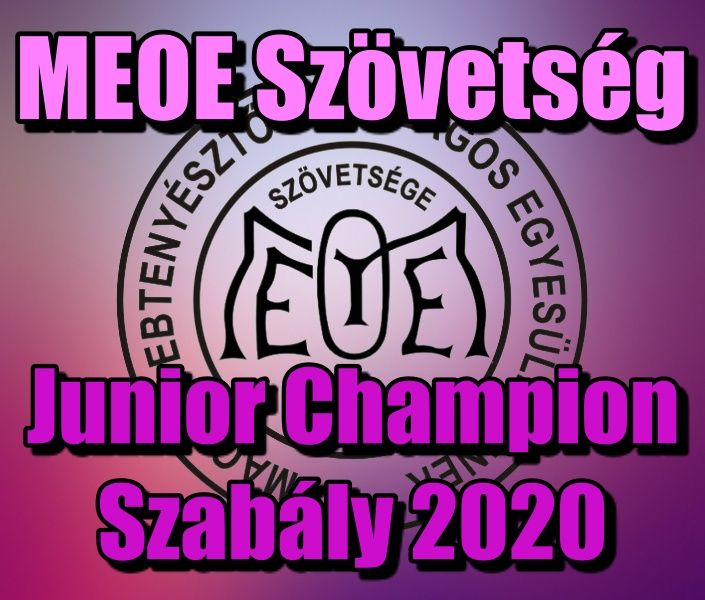 Junior Champion Szabály 2020