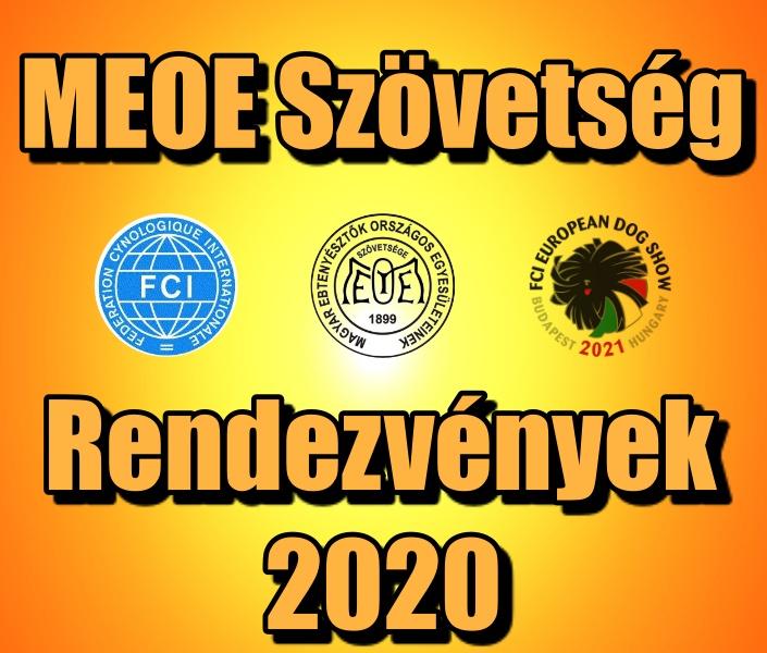 2020 évi rendezvénynaptár