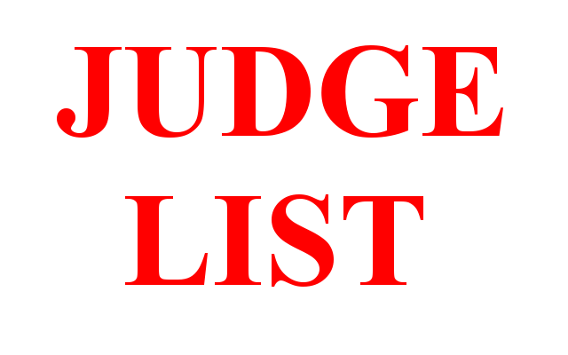 judge list for 2020