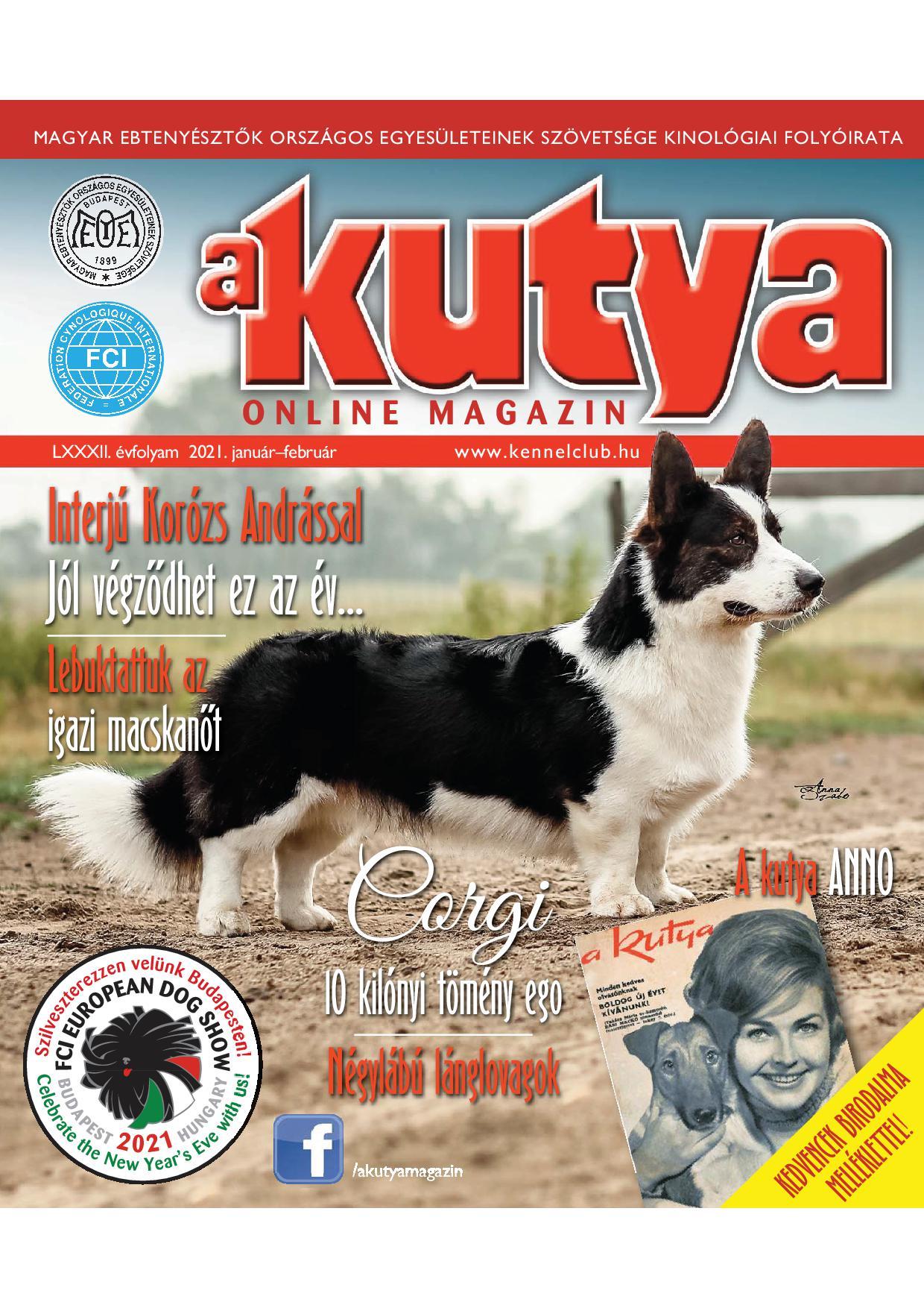A KUTYA Online Magazin, LXXXII. évfolyam 2021. január-február